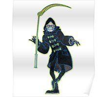 Let it Die Uncle Death with sickle Grim Reaper Poster