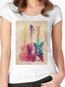 guitars 2 Women's Fitted Scoop T-Shirt