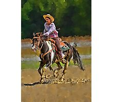 Cowgirl and Horse Photographic Print