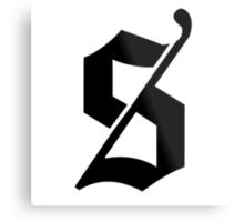 Stealforge Logo - Black Metal Print