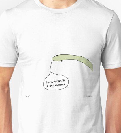 haha fuckin lit I love memes Unisex T-Shirt