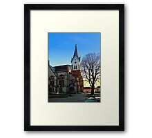 The village church of Aigen III | architectural photography Framed Print