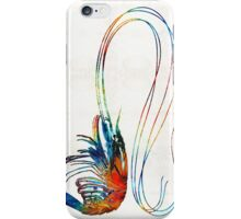 Colorful Shrimp Art by Sharon Cummings  iPhone Case/Skin