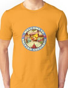 British Columbia Vintage Welcome To Decal Unisex T-Shirt