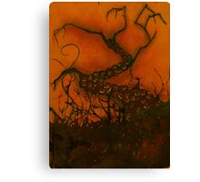 Spooky Halloween Tree Canvas Print