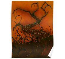 Spooky Halloween Tree Poster