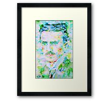 NIKOLA TESLA watercolor portrait Framed Print