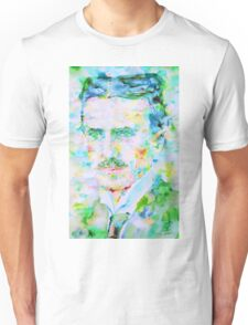 NIKOLA TESLA watercolor portrait Unisex T-Shirt