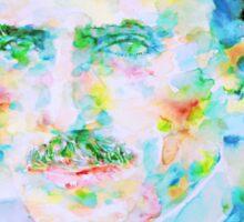 NIKOLA TESLA watercolor portrait Sticker