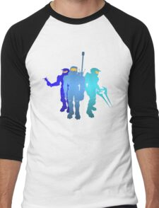 Blue Team Men's Baseball ¾ T-Shirt