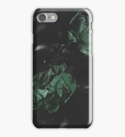 Moody Green Floral Background iPhone Case/Skin