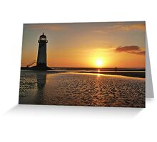 Sunset Talacre Lighthouse Greeting Card
