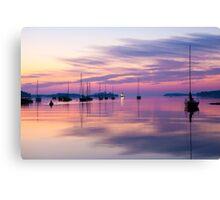 Sunrise in Mahone Bay, NS Canvas Print
