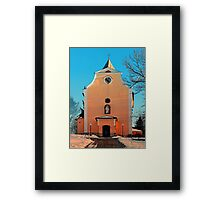 The village church of Berg bei Rohrbach II | architectural photography Framed Print