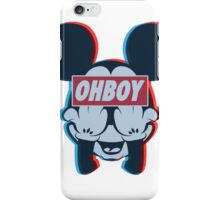 Stereoscopic ohboy iPhone Case/Skin