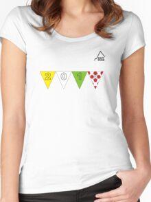 East Peak Apparel - 2015 Tour de France Peaks T-Shirt Women's Fitted Scoop T-Shirt
