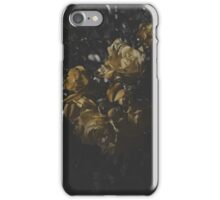 Moody Yellow Floral Background iPhone Case/Skin