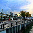 N J Transit's Lightrail Station Hoboken NJ by pmarella