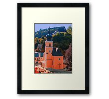 The village church of Helfenberg III | architectural photography Framed Print