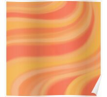 Peachy Waves Poster