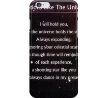 Emotions Like The Universe #studybreakpoetry iPhone Case/Skin