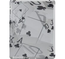 Poker Cards, Royal Club Flush Layer Pattern iPad Case/Skin