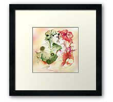 Flower and Leaf Framed Print