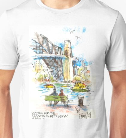 Waiting for the Cockatoo Island ferry Unisex T-Shirt