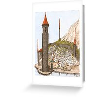 Castle at the End of the World Greeting Card