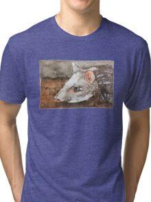 Watercolor Tapir Portrait Tri-blend T-Shirt