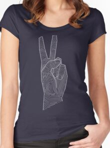 Peace out - line art Women's Fitted Scoop T-Shirt