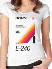 Retro VHS tape vaporwave aesthetic Women's Fitted Scoop T-Shirt