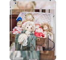Retro rag dolls toys collection iPad Case/Skin