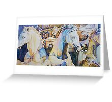 Neptune's Sea Horses, Florence Greeting Card