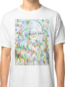LEONARDO DA VINCI - watercolor portrait Classic T-Shirt