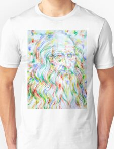 LEONARDO DA VINCI - watercolor portrait Unisex T-Shirt