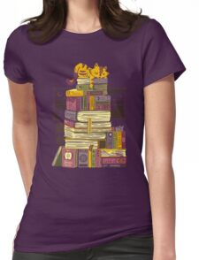Sleeping On My Treasure Womens Fitted T-Shirt