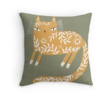 FANCY YELLOW Throw Pillow