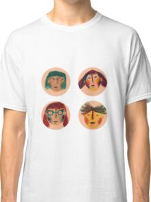 funny faces Classic T-Shirt