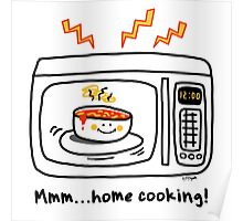 Microwave Home Cooking Poster