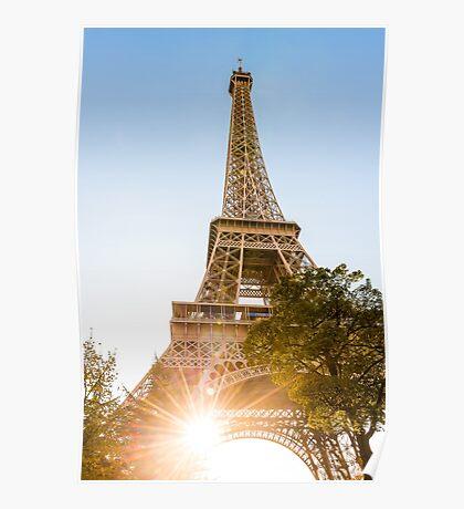 Sunlight Eiffel Tower - Eiffelturm - Paris  Poster