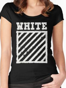Off-White Brushed Diagonals v2 Women's Fitted Scoop T-Shirt