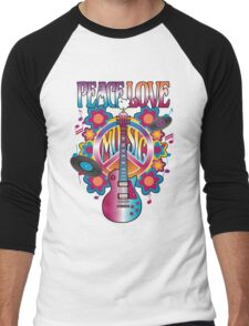Peace, Love and Music Men's Baseball ¾ T-Shirt