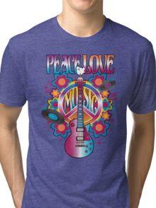 Peace, Love and Music Tri-blend T-Shirt