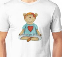 Live Love Yoga Bear in meditation Unisex T-Shirt