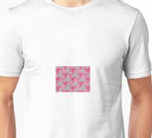 Swirling pink and grey roses Unisex T-Shirt