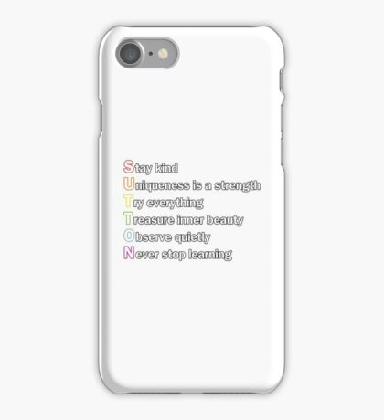 Sutton Foster - Life Lessons Acrostic | Color & Black iPhone Case/Skin