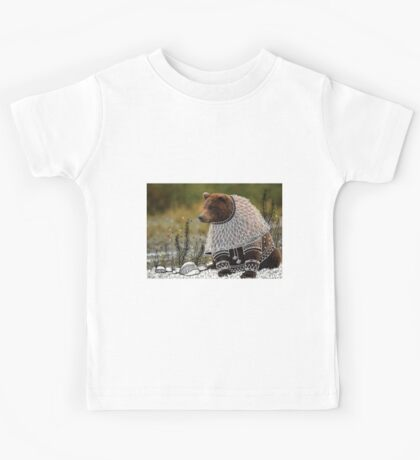 Bear on fancy costume Kids Tee