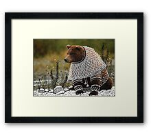 Bear on fancy costume Framed Print