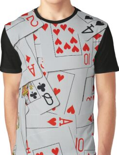 Deck Of Scattered Playing Cards. Graphic T-Shirt